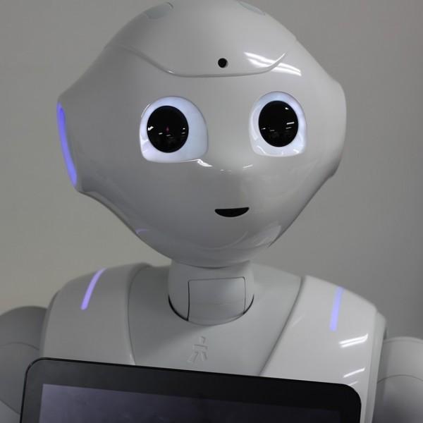 White Pepper Robot Softbank Tablet Camera